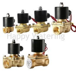 "válvula de bola de latón Rebajas 1 ""BSP válvula de solenoide de agua normalmente cerrada de latón 12V DC envío gratuito"