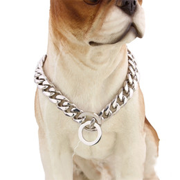 Wholesale Stainless Steel Necklace High Polished - Adjustable Stainless Steel Puppy Collar Silver Wear Resistant Necklace Mirror Polishing Fashion Pet Dog Collars High Quality 32tg Z