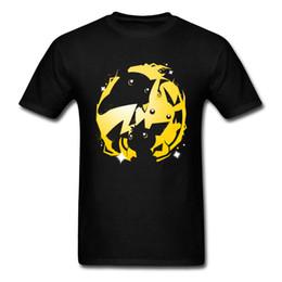 camiseta al por mayor bolsillo Rebajas Summer Electric Trio Venta al por mayor T-shirt Hombres Anime Tops Pocket Monster Ropa Moda Camiseta negra Loose Tee Hipster Tshirt