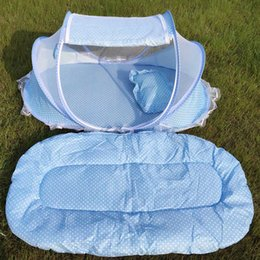 foldable baby mosquito nets NZ - Portable Baby Crib Mosquito Net Tent Multi-Function Cradle Bed Infant Foldable Mesh Bed Cushion Girls Kids Chidren Mattress
