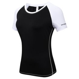 a1141c1afaff1 Free shipping Women s Tight Training PRO Sports Fitness Running Short  Sleeve Stretch Short Sleeve Shirt T-Shirt Free shipping!f03
