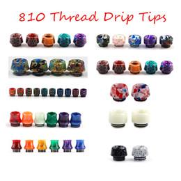 810 Thread Resin Drip Tip Snake Skin Colorful Cobra Honeycomb Luminous Dumbbell Vape For TFV12 Prince TFV8 Big Baby Tank 528 RDA DHL