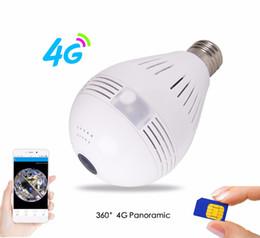 Caméra carte sans fil wifi sans fil de 3g en Ligne-3G 4G Carte SIM Caméra 1080P 360 degrés VR Audio sans fil IP Camera Bulb Wi-fi FishEye Home Security WiFi Caméra pour 4G Module