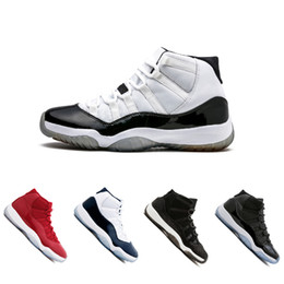 Wholesale University Rubber - New 11 11s men Basketball Shoes Chicago gym red Midnight Navy PRM Heiress gamma University blue Bred Concords sports Sneaker