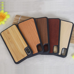 Argentina Cubierta vendedora caliente del teléfono celular del diseño único para el iphone x caja de bambú protectora del teléfono del OEM TPU de madera para el iPhone X Suministro