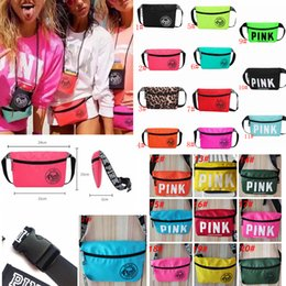 Wholesale Storage Collection - Pink Beach Waist Bag Travel Pack Fanny Collection Fashion Girls Purse Bags 21Styles Outdoor Bags Storage Bags FFA324 120PCS