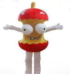 Animar manzana online-2017 de Alta Calidad EVA Material Casco Animado de dibujos animados humor traje de la mascota de la manzana Navidad de Halloween ropa para adultos EMS envío gratis