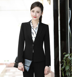 d1670a23cf9 New Style 2018 Formal Women Blazers and Jackets Black Ladies Work Wear  Business Female Office Uniform Designs