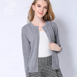 Wholesale Women Beige Coat Cashmere - Spring New style Cashmere Sweater Women Cardigan Sweater Women's O-Neck Knitted Coat Thin Sweater big yards Size 12 Colors