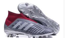 Botas de fútbol para jóvenes con tobillo alto Predator 18 + x Pogba FG Accelerator DB Calzado de fútbol para niños PureControl Purechaos Tacos de fútbol para mujeres desde fabricantes