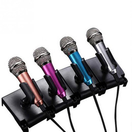 Wholesale Karaoke Laptop Microphone - Portable 3.5mm Stereo Studio Mic KTV Karaoke Mini Microphone For Cell Phone Laptop PC Desktop Small Size Mic 4 colors