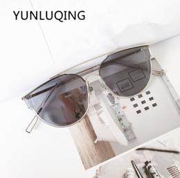 02d2b1f4cd4f3 luxury Brand Designer sun glasses rose gold mirror fashion Cat Eye  Sunglasses for Women Men Vintage