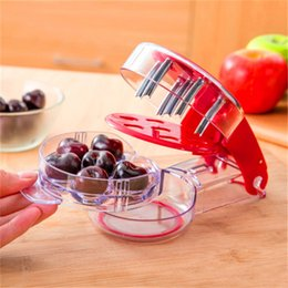 Wholesale Vegetable Fast - Cherry Pitters 6 Cherries Corers Once Fruits And Vegetables Seed Remover Fast Enucleate Keep Complete Kitchen Tools New Arrival 12 2om Z