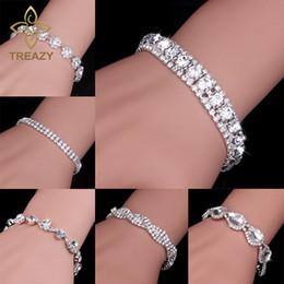 Tdqueen Armreifen Großen Kristall Armband Silber Überzogene Frauen Oberen Arm Armband Braut Hochzeit Schmuck Luxus Armbänder Armreifen Armbänder & Armreifen