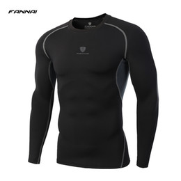 Wholesale tights long sleeve tees - Ls Brand 2017 Summer New Male T -Shirt Tights Long Sleeve Tops &Tees Men Compression Shirt Fitness Quick Drying T Shirt Clothing