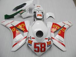 Wholesale 7gifts Injection ABS Fairings para Honda CBR1000RR blanco rojo carenado kit CBR RR DS34