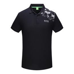 Wholesale Mens Black Polos - shipping 2018 polos shirt Men Bee embroidery collar mens casual cotton polo shirt snake tiger tee tops poloshirt M-3XL