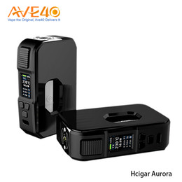 100% оригинал Hcigar Aurora Squonk Mod 80W Box Mod Цветной экран высокой четкости, работающий от одной 18650/20700/21700 ячейки Ergonomiclly supplier hcigar box от Поставщики коробка hcigar