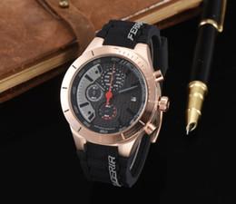Wholesale wholesale bangs - DHL Free SIX PIN WORK Wristwatch black rubber Men F1 Brand Watch Bang men sports wristwatches