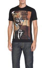 Wholesale Icon T Shirts - ICON brand 2018 new short sleeve print male t shirts, cotton fabric O-neck clothing base black fashion casual men t-shirts T1753