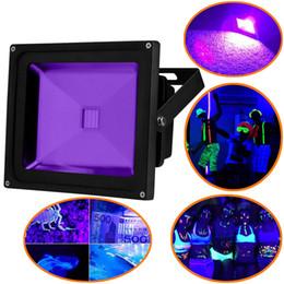 al por mayor reflectores de energía solar Rebajas Luz UV Luz negra, alta potencia 10W 20W 30W 50W Luz de inundación ultravioleta ultravioleta LED IP65 impermeable para fuentes de fiesta con luz negra, brillo de neón