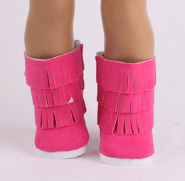 Mejores zapatos de bebé online-18 inch American Girls Dolls Fur Snow Boots Shoes For 43cm Baby Born Doll Or Alexander Doll Accessory Girl Best Gift 15 Colors