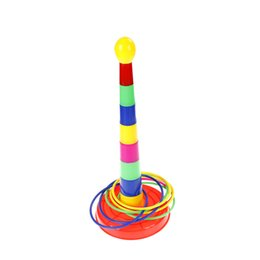 Wholesale Random Bear - 1 Set Sports Toys Indoor Outdoor Hoopla Piling Ring Separable Throw Circle For Children Kid Toy Color Random