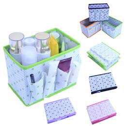 ups de escritorio Rebajas Alta Calidad Plegable Multifunción Maquillaje Caja de Almacenamiento Contenedor Caja de escritorio de gran capacidad Cosméticos Organizador 6A1034