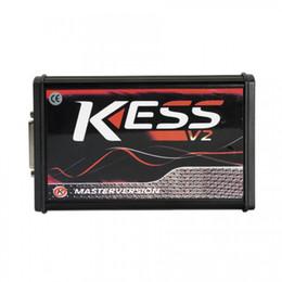 version kess v2 Promotion Top Quality Kess V2 V5.017 Version UE SW V2.47 avec support de version en ligne de PCB rouge 140 Protocole sans jeton limité Programmeur KESS calculateur