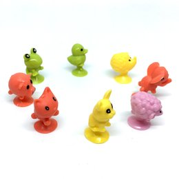 Wholesale wholesale cheap dolls - 2.5cm monsters sucker Small animal cartoon plastic toy doll chuck Ickee Stikee 500pcs cheap wholesale
