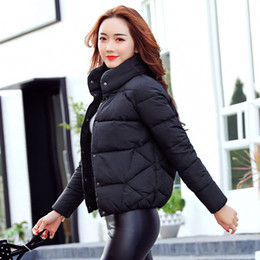 Wholesale Plus Size Spring Clothes - women jacket autumn spring 2017 casual short coat stand collar full sleeve plus size femme outwear garment clothing for female