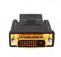 or convertir Promotion En gros DVI 24 + 1 à HDMI Convertissez le câble de convertisseur d'adaptateur HDTV plaqué or mâle à femelle 1080p