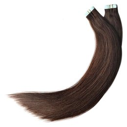 Fabrika Doğrudan Saç Toptan Fiyat 100g 40 adet / takım Remy İnsan Saç Koyu Kahverengi Renk 2 Bant nereden