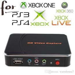 HD Video Capture 1080P HDMI YPBPR registratore ad alta definizione per Xbox 360 Xbox One PS3 PS4 Wii U Drop Shipping con un clic No PC richiesto cheap video capture hd da cattura video hd fornitori
