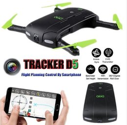 Wholesale quadcopter rc - JJRC DHD D5 Selfie FPV Drone With HD Camera Foldable RC Pocket Drones Phone Control Helicopter Mini Dron JJRC H37 523 Quadcopter