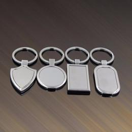 Llaves en blanco de acero inoxidable online-Etiqueta en blanco del metal llavero creativo del coche llavero personalizado de acero inoxidable llavero de publicidad de negocios para la promoción