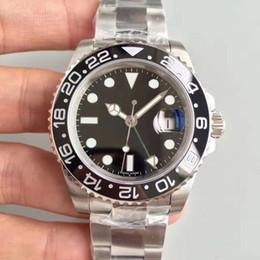 2019 nuova versione V3 GMT orologio da uomo in ceramica lunetta girevole grande lente d'ingrandimento Asia 2836 movimento automatico in acciaio solido chiusura cheap 2836 watches da 2836 orologi fornitori