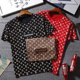 Wholesale mens street fashion - Luxury designer t shirts for men women Summer fashion letters cotton t-shirt polo High street hip pop mens t shirt