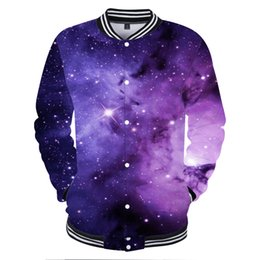 star galaxy s Promo Codes - BTS 3D Space Galaxy Star Sky Baseball Jacket Women Fashion Casual Winter Jacket Hip Hop Funny Star Sky Baseball Clothes