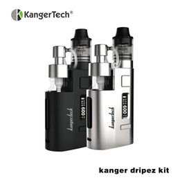 Wholesale Boxed Pump - Wholesale-Original Kangertech DripEZ Starter Kit 80W Box Mod Vape with Pump and Push RBA 0.3Ohm Drip Coil 0.2Ohm Drip EZ Kit