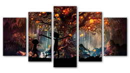 Wholesale Artworks Paintings - Rick and Morty Wall Decor 5 Piece Canvas Prints Art Poster Picture Modern Artwork for Living Room Bedroom Home rick 3