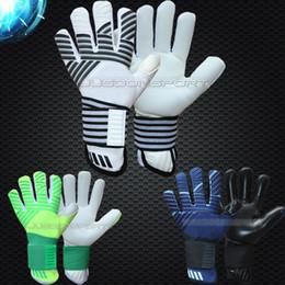 Tecidos de látex on-line-Jusdon novo modelo adultos frete grátis tecido De Látex Luvas de Goleiro de futebol Profissional de futebol sem fingersave