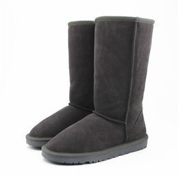 Wholesale Boot Warmers - WGG Classic Australia Tall Boots Waterproof Cowhide Genuine Leather Snow Boots Bailey Bowknot Warm Shoes For Women 15