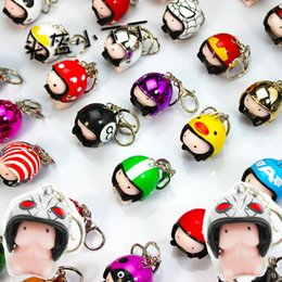 Wholesale Squishy Keychains - fidget spinner LeadingStar Novelty Helmet Dingding Squishy Practical Joke Gift Rubber Squeeze Stress Relief Funny Toy Helmet Color Random