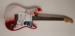 Wholesale Electric Guitar Stickers - Shelly new store factory custom Jimi sticker Hendrix Monterey guitar ST electric guitars red guitarra musical instruments shop