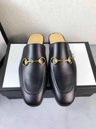 знаменитый массаж Скидка Дизайнерские тапочки для мужчин легкие кожаные лошадиные тапочки летняя пляжная обувь символический золотистый Принстаун вышитые мокасины обувь