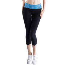Wholesale sexy tight spandex dress - Hight Quality Yoga Pants Sexy Girls Leggings Compression Dress Pants Sports Tights Pantalones Mujer Fitness Polyester Hot Women