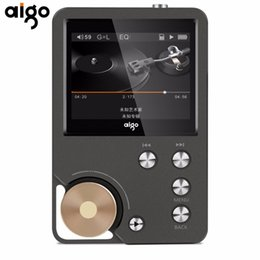 Wholesale Portable Tft - Wholesale-Aigo Portable Hifi Music Player Lossless Music 8GB memory With 2.0 Inch TFT Screen Display Dual Channel Output Audio MP3 Player