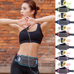 Wholesale Hockey Phone Cases - Universal Jogging Waist Bags Waterproof Sports Running Case Bag Workout Pouch For Samsung Cell Mobile Phone Card Multicolors