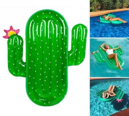 Wholesale Swim Ring Adults - Giant Inflatable Cactus Float Ride-On Swimming Ring Adults Children Piscina Mattress Lounger Water Sports Toys DDA254